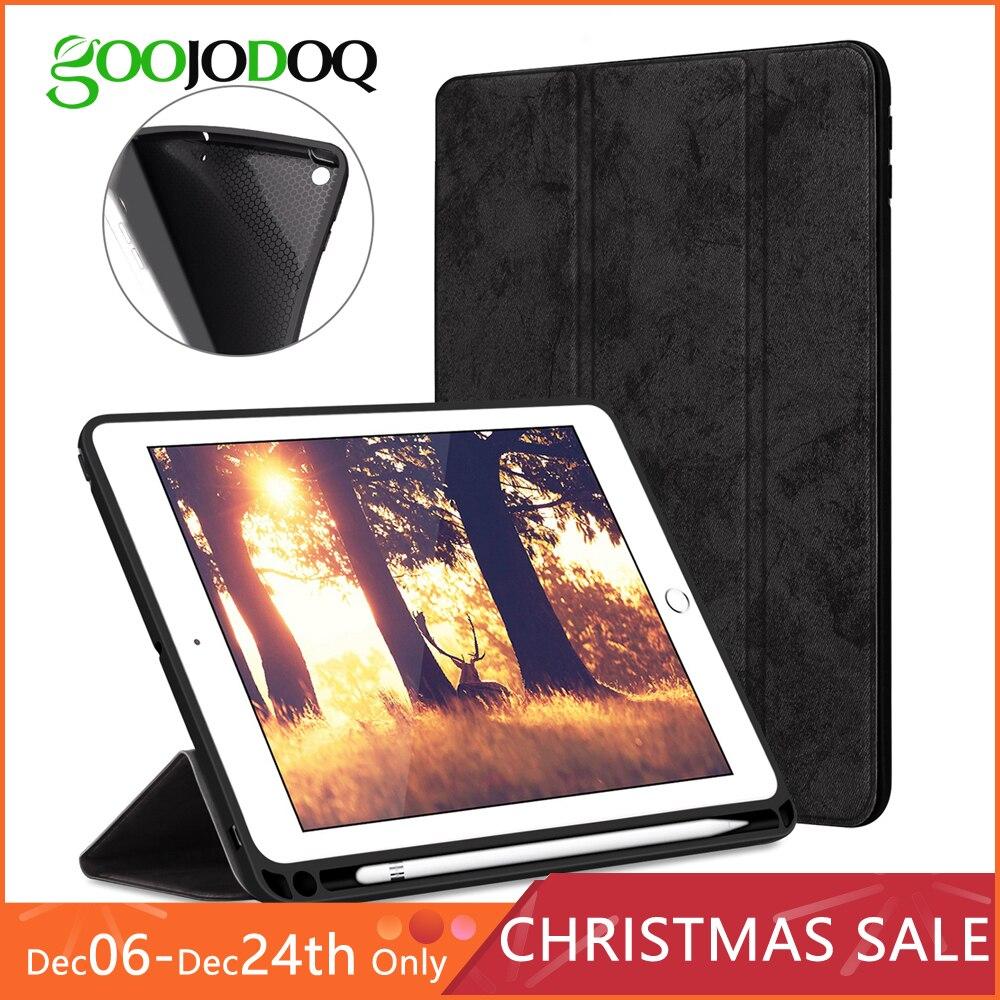 Für iPad Pro 12,9 Fall mit Bleistift Halter, GOOJODOQ Premium PU Leder TPU Soft Cover für iPad Pro 12,9 Fall Smart Stift Halter