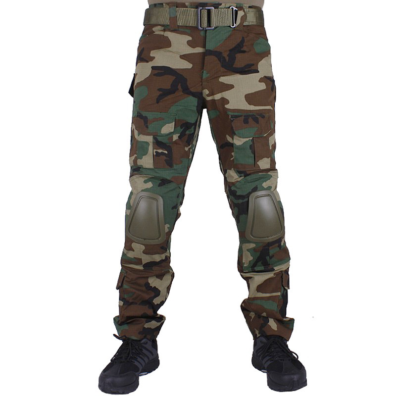 Camouflage military Combat pants men trousers tactical army pants with Removable knee pads WL mgeg militar tactical cargo pants men combat swat trainning ghillie pants multicam army rapid assault pants with knee pads