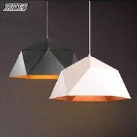 Modern Minimalist Geometric Iron Rhombus Diamond Pendant Light Bar Office Restaurant Personalized Creative Lamps