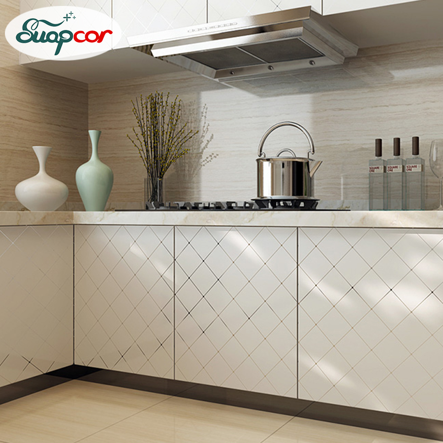 Waterproof Pearl Paint PVC Wallpaper Self Adhesive Wall Paper Furniture Renovation Stickers Kitchen Cabinet Wardrobe Home Decor