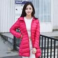Winter Women Long Down Jackets Fashion Ultra Light White Duck Down Coat Hooded Down Parkas For Women XXXL Plus Size
