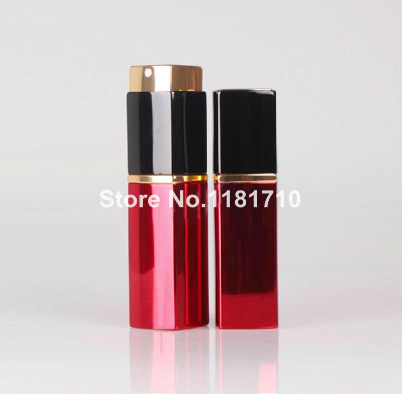 1 PC TOP-GRADE Luxo Quadrado Vazio Frasco de Perfume 20 ML de Alumínio Recarregáveis Frasco de Spray Atomizador de Metal Portátil