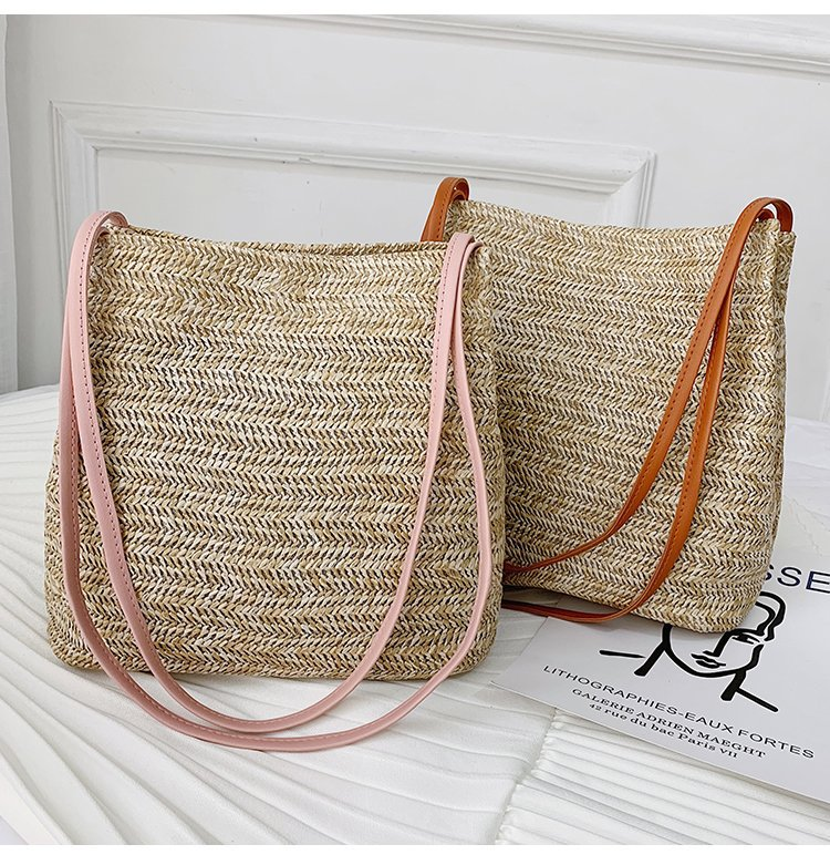 Vuntage Women Girls Rattan Straw Bag Woven Handbag Crossbody Beach Summer Bags