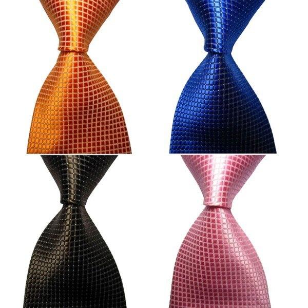 Chic Hot Classic Checks Jacquard Seda tejida Hombres Corbata Corbata - Accesorios para la ropa - foto 6