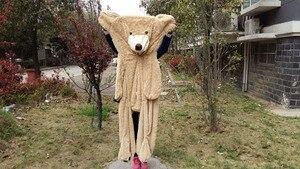 Image 2 - بيع لعبة كبيرة الحجم 200 سنتيمتر الأمريكية العملاقة الدب الجلد ، تيدي بير معطف ، نوعية جيدة سعر المصنع لعب لينة للفتيات