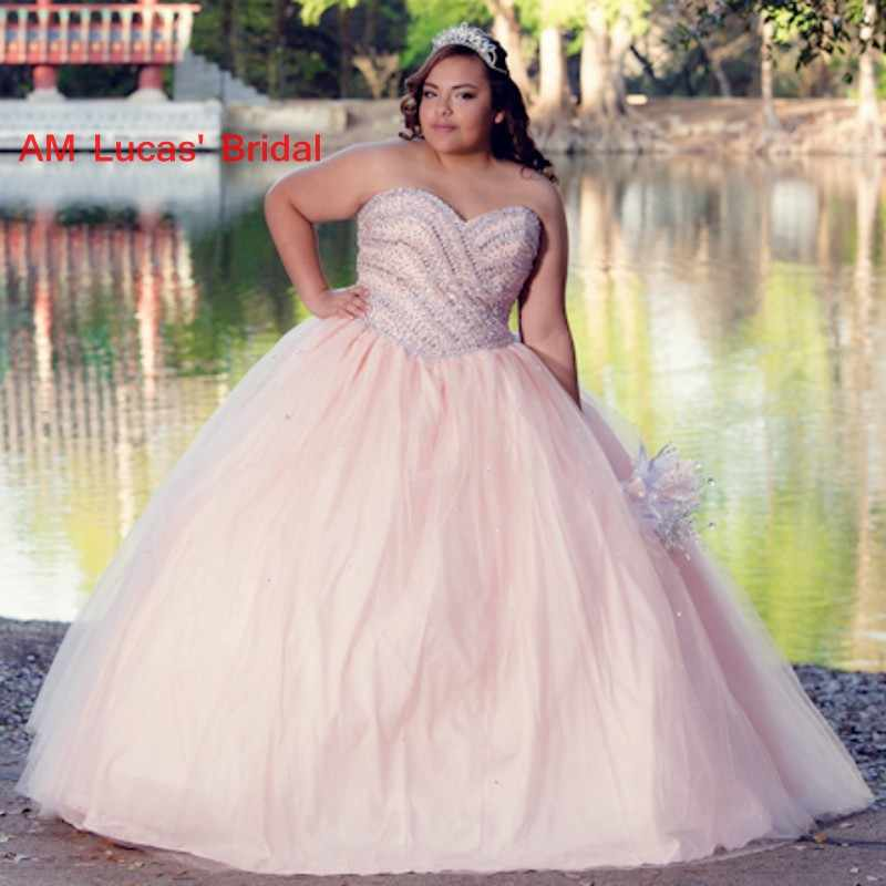 Long Ball Gown Quinceanera Dresses Plus Size Sweet 16 Year ...