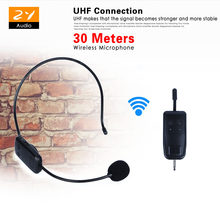 Rechargable UHF Wireless Microphone Headset Mic Megaphone For Loudspeaker Teaching Tour Guide Sales Promotion Meetings Speech(China)