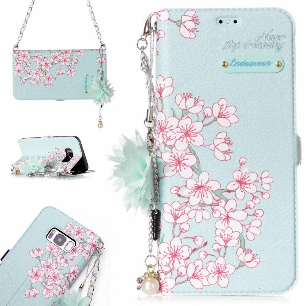 <font><b>Necklace</b></font> Lace Datura Paisley Mandala Henna Flower <font><b>Case</b></font> Matte Slim Hard <font><b>Phone</b></font> <font><b>Case</b></font> For Samsung Galaxy S8 S8Plus Back Cover