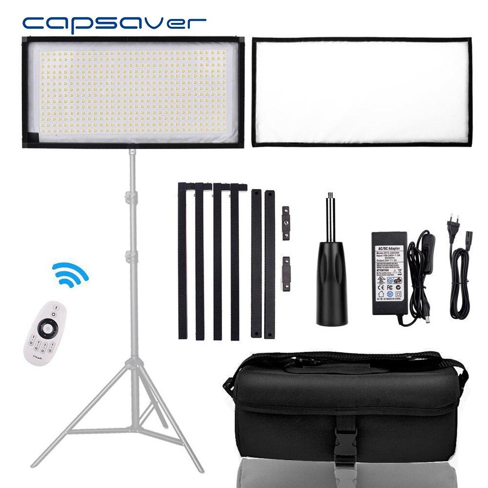 Capsaver FL-3060A LED Vidéo Lumière Flexible Photographie Éclairage 3200 k-5500 k CRI90 Bi-couleur LED Panneau Lumineux avec Télécommande