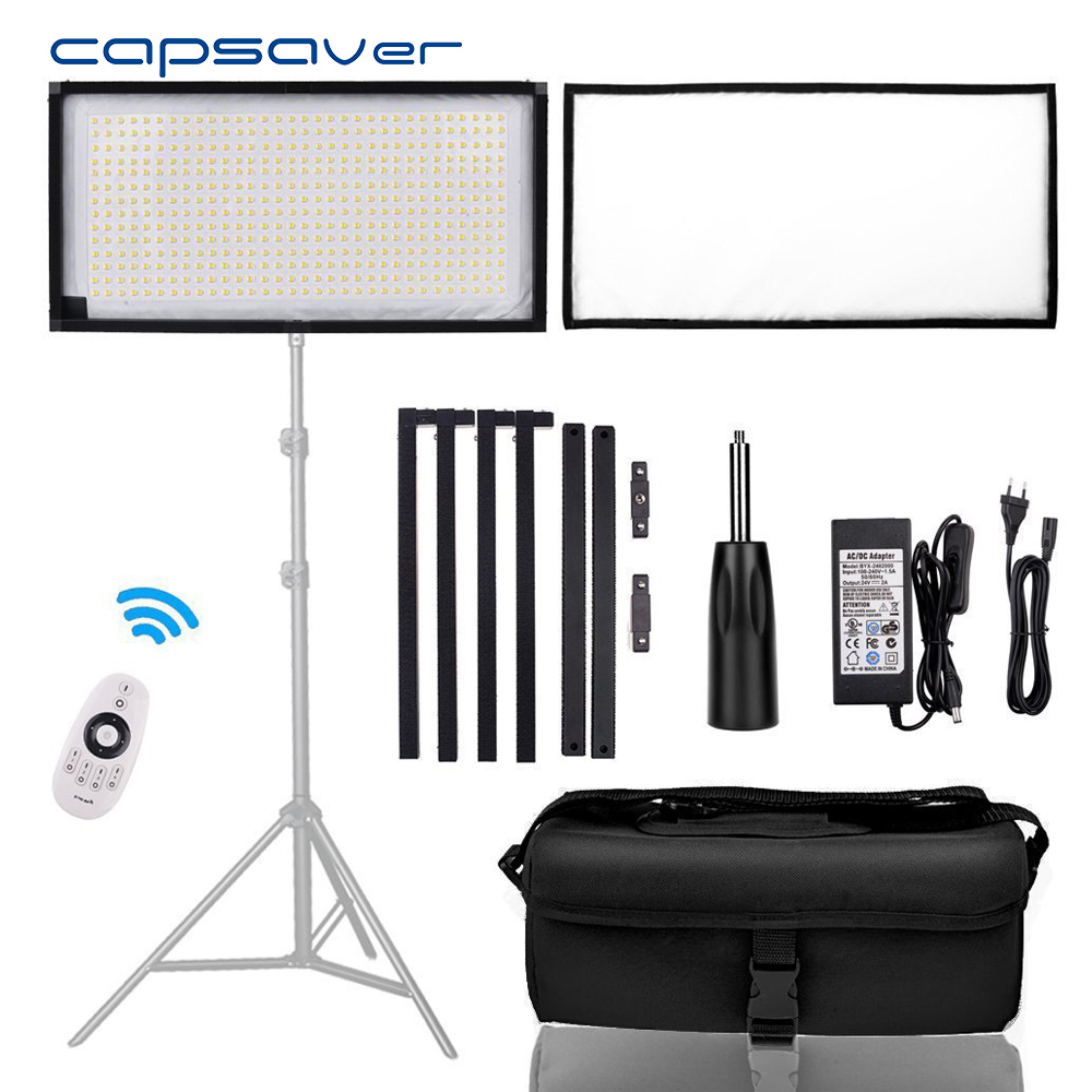 capsaver FL-3060A LED Video Light Flexible Photography Lighting 3200K-5500K CRI90 Bi-color LED Light Panel with Remote Control