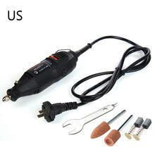 Мясорубки Мини дрель Мощность роторный Набор инструментов с аксессуарами 110 В США Plug
