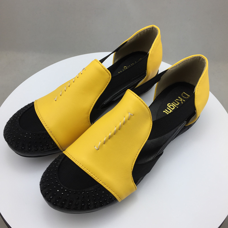 Summer Sandals Women 2018 Lady Yellow Red Shoes Woman Platform Flats Shoes Causal Rhinestone Sandals Roma Female Gladiator Shoes (19)