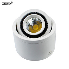 Round COB LED Ceiling Light 5W/7W/9W/20W Surface Mounted Adjustable White Led Downlight AC85-265V Spot Light With Led Driver 7w 600lm 6500k white 7 led ceiling light silver 89 265v