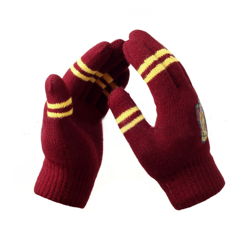 Wholesale Harriy Potter College Touch Gloves Thicken Gryffindor Winter Warm Touch Screen Gloves Gifts Birthday Cosplay Accessory