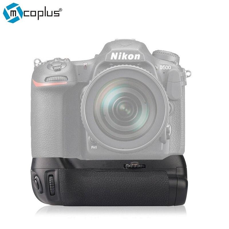 Mcoplus BG-D500 Профессиональный Ручка-Держатель Аккумуляторов для Nikon D500 работает с Батареи EN-EL15 и А. А. Батареи, как Nikon MB-D17