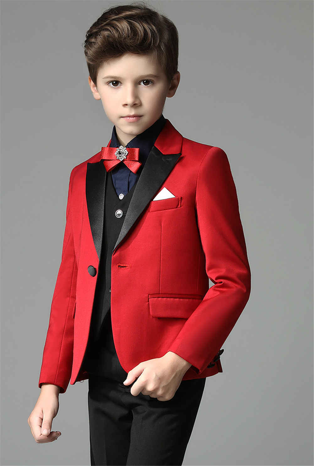 d651a9e97848 Detail Feedback Questions about 2018 New 3 pieces Boys Red Wedding Suit  Brand England Style Gentle Boys Formal Tuxedos Suit Kids Spring Clothing  Set on ...
