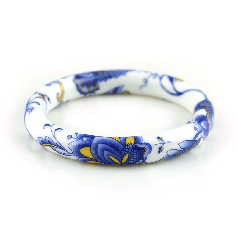 Novi modni dizajn vintage cvijet keramika narukvice kineski - Modni nakit - Foto 2