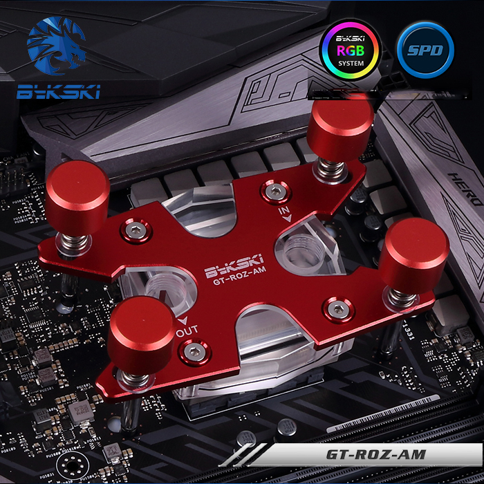 все цены на  Bykski Multicolor Water Cooling CPU Block use for AMD Ryzen AM3 AM4 Acrylic Metal Radiator Cooler Block 0.3MM Waterway Channel  онлайн