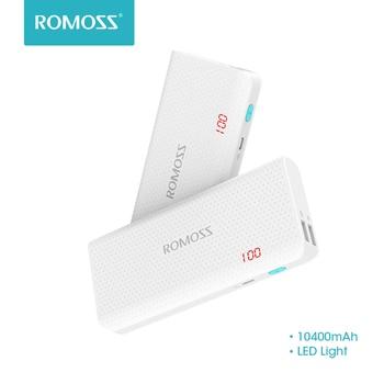10400 mAh ROMOSS תחושה 4 LED כוח בנק 2.1A טעינה חיצוני סוללה חבילות כפולה USB פלט נייד מטען עבור טלפונים שולחן
