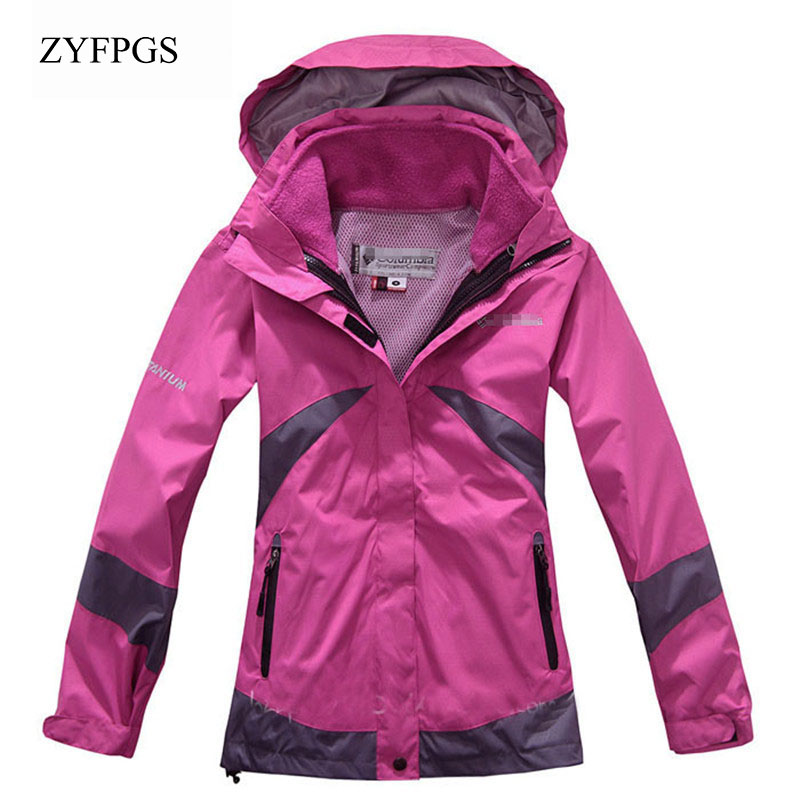 ZYFPGS 2018 New Softshell Windbreaker Hiking Jacket Women Waterproof Jacket Camping Hiking Thermal Fleece Jacket CHJ006 ветровка dickies softshell jacket navy