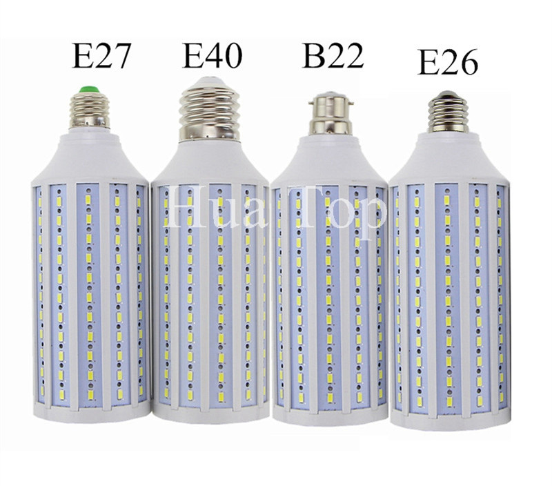 Купить с кэшбэком Led lamp 5730 SMD 7W 15W 25W 30W 40W 50W 80W 100W E27 E40 E26 B22 110V 220V Corn Bulb Pendant Lighting Chandelier Ceiling Light