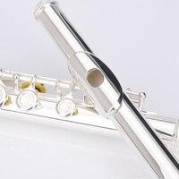 Серебряное покрытие 16 отверстий открытое отверстие закрытое отверстие C флейта professional новичок флейта Инструменты Мельхиор материал 16 ключ