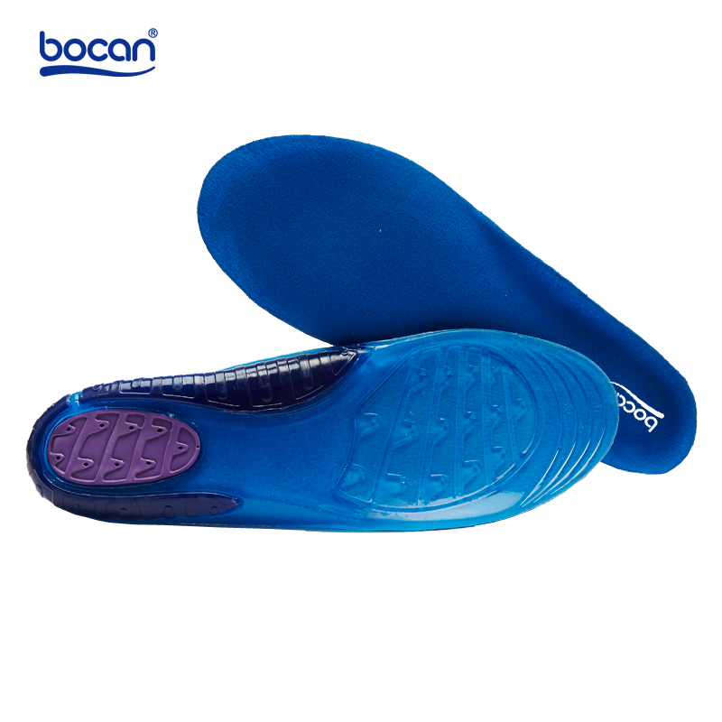 Bocan gel insoles for sport Elastic Shock Absorption insoles Sweat Absorbing shoe Inserts for Men /Women bocan insoles for sport shock absorption orthopedic shoe insoles light weight breathable for men women
