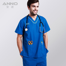 Free shipping nursing medical doctor short sleeve in work hospital scrubs Surgical Gowns  Isolation Medical clothin