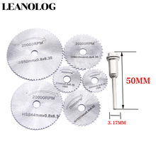 цена на 6pcs/set Metal  Circular Saw Blade High Speed Steel Woodworking Cutting Discs For Rotary Tool Durable Quality