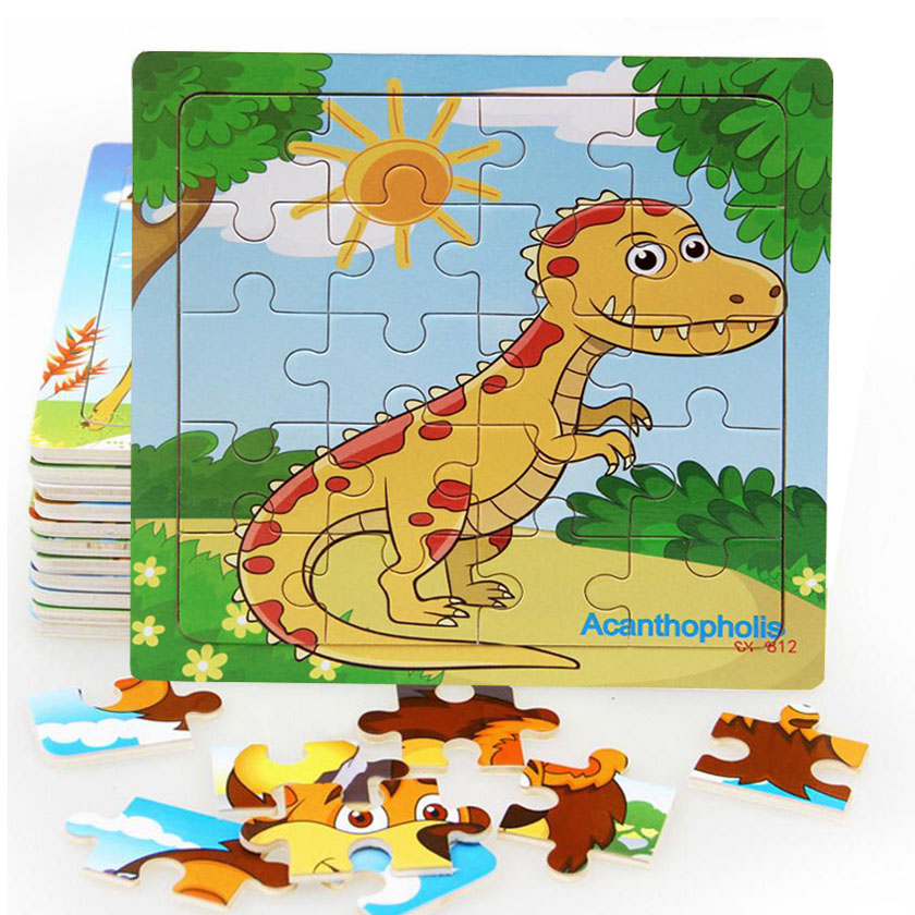 Sale New 20 Piece Wooden Puzzle Kids Toy Baby Wood Jigsaw Puzzles Cartoon  Dinosaur Animal Early Educational Toys for Children - buy at the price of  $1.22 in aliexpress.com | imall.com