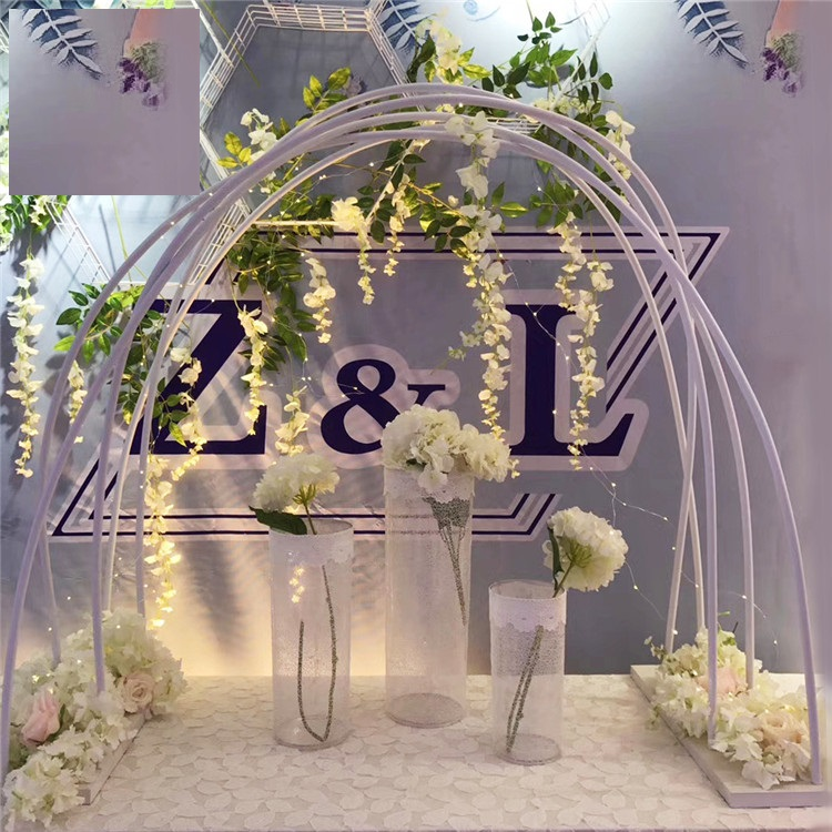 Set Of 10 Country Garden Flower Seed Wedding Favours With: 3m*3m Wedding Background Arch Stands Bridal Arch Frame