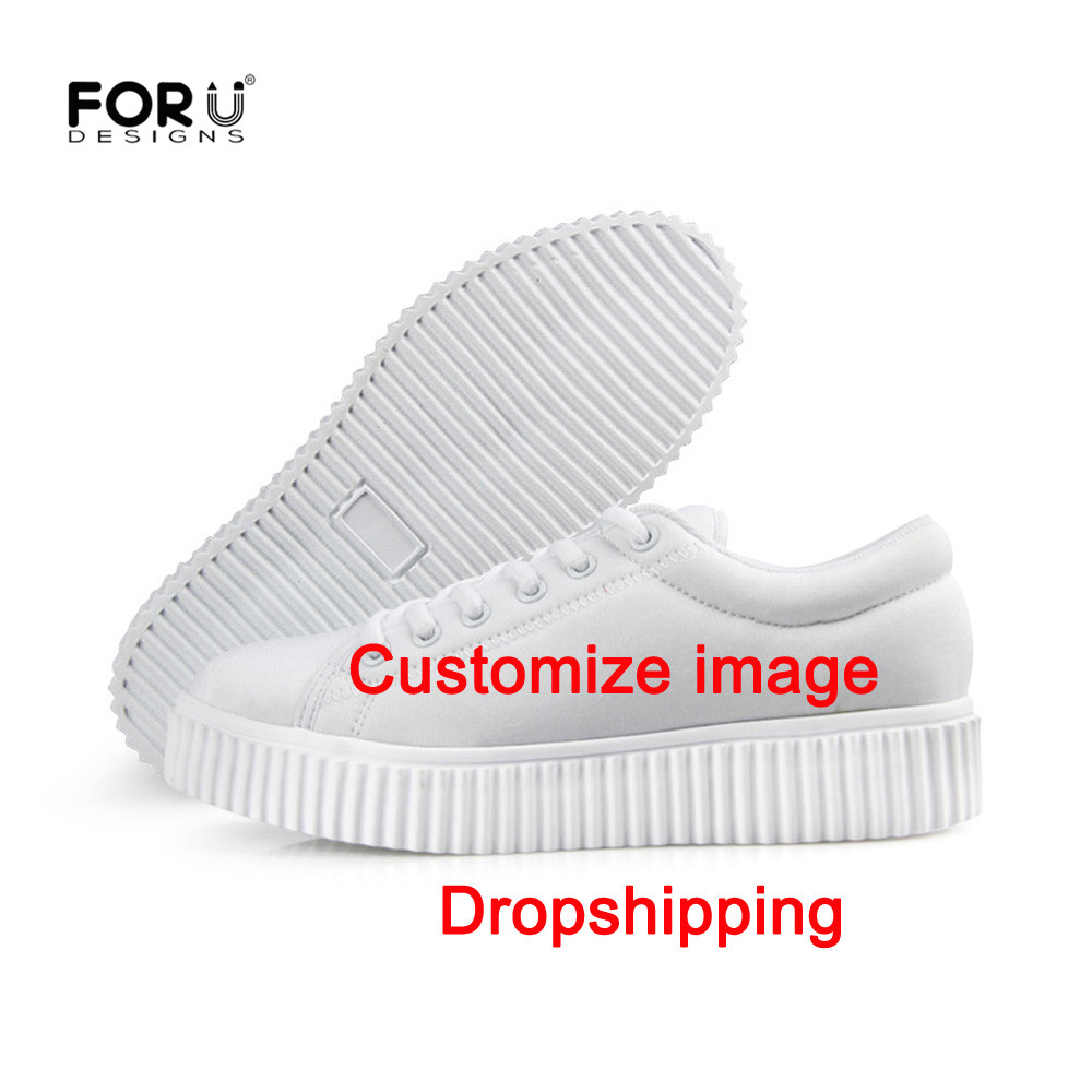 FORUDESIGNS Customized With Own Logo Printing Women Vulcanize Shoes High Platform Shoes Sneakers Height Increasing Shoes Zapatos