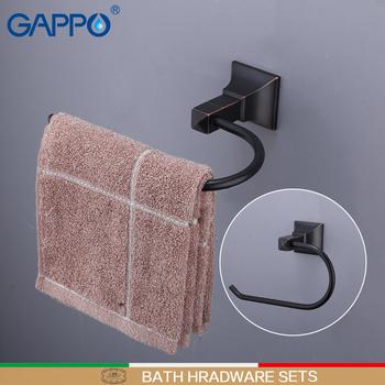 GAPPO wieszaki na ręczniki mosiądz wieszak na ręczniki do montażu na ścianie wieszak na ręczniki wieszak na ręczniki łazienka wieszaki na ręczniki akcesoria łazienkowe akcesoria łazienkowe tanie i dobre opinie Pierścienie ręcznik Miedzi Y15504 Towel Bars Towel Holders