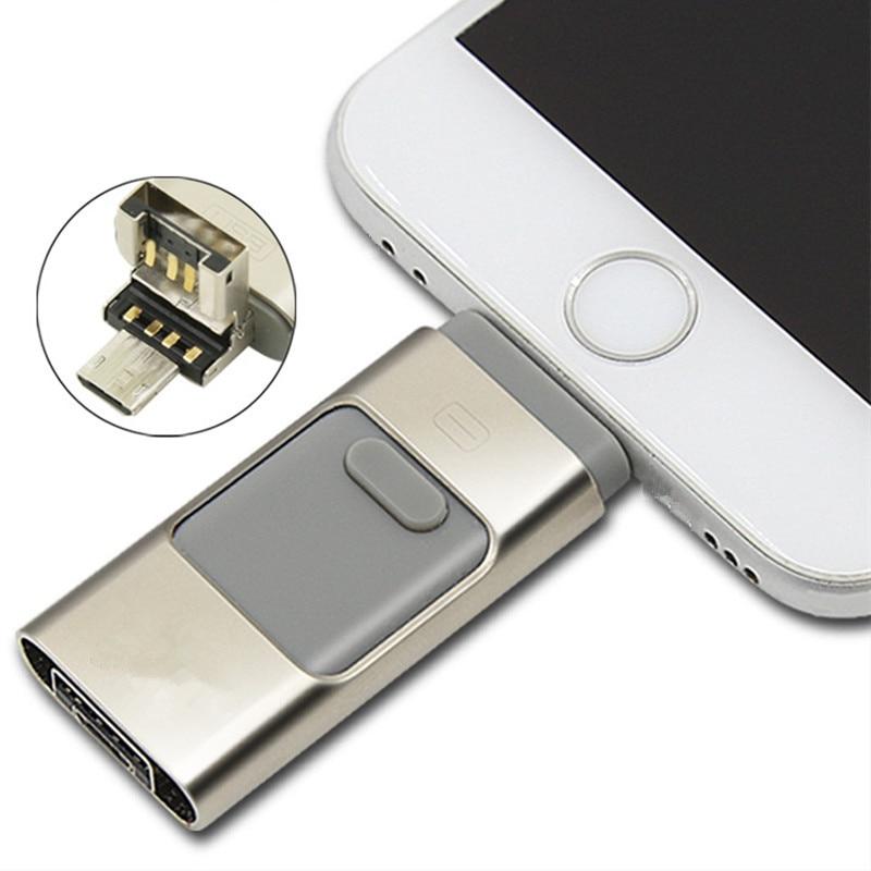 free shipping full capacity otg 16GB dual usb flash drive for iphone 6 6s 6c