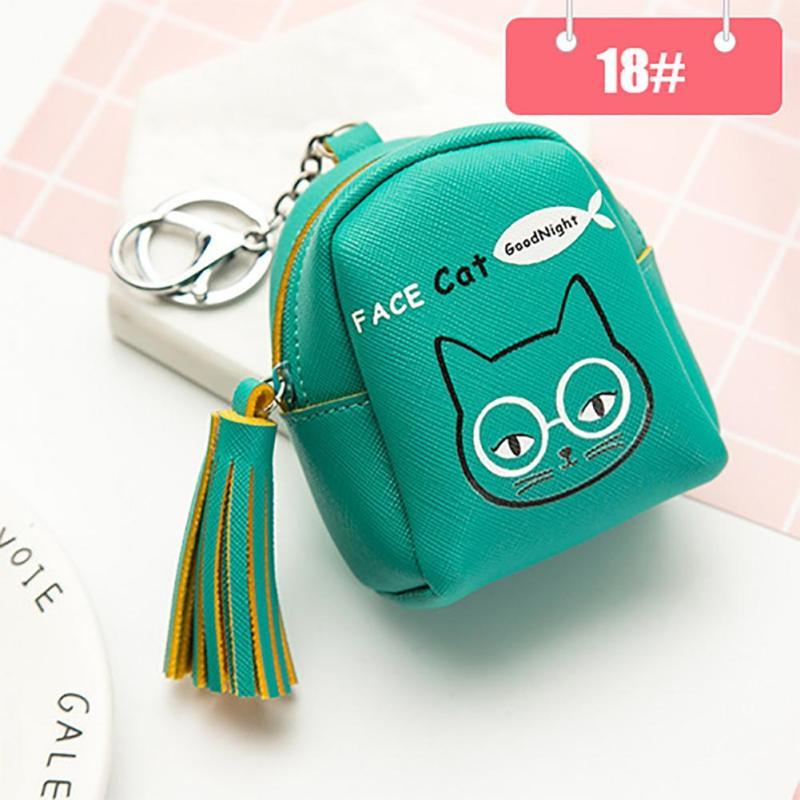 Lodogsow Cute Cartoon Cat Rabbit Animal Coin Purse Wallet Women Fashion Key Card Holder Pouch Mini Female Zipper Women Girl Gift