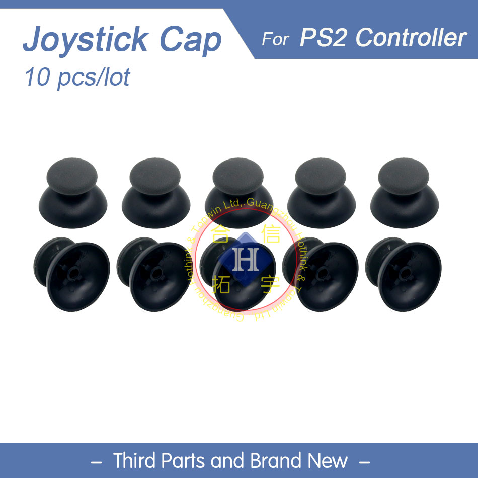 HOTHINK 10pcs/lot New Replacement 3D Analog Joystick Cover Cap Thumb Sticks For PS2 Controller Dualshock 2
