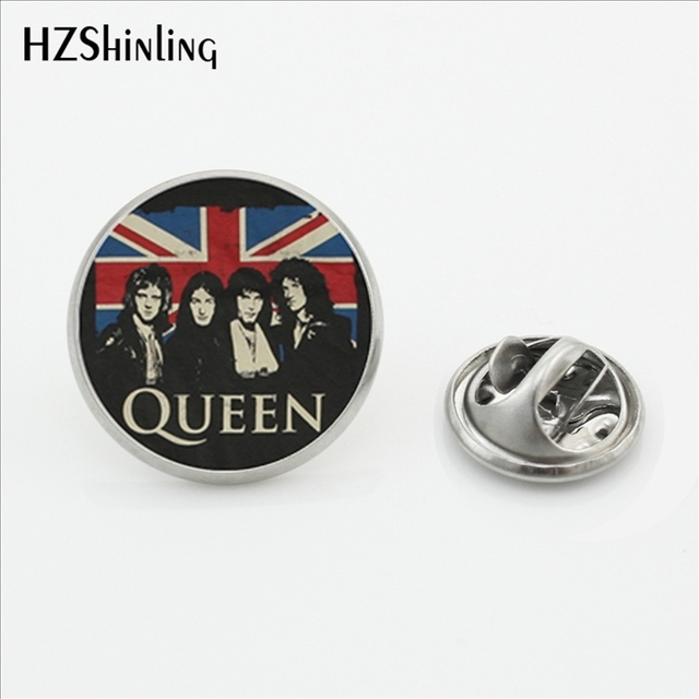 2017 New Design Rock Band Queen Collar Pin Brooch Fashion Pins Queen Band Musici