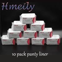 10 Pack Anion Sanitary Bamboo fiber pads strip panty liner menstrual period feminine vaginal hygiene Female Healthy care