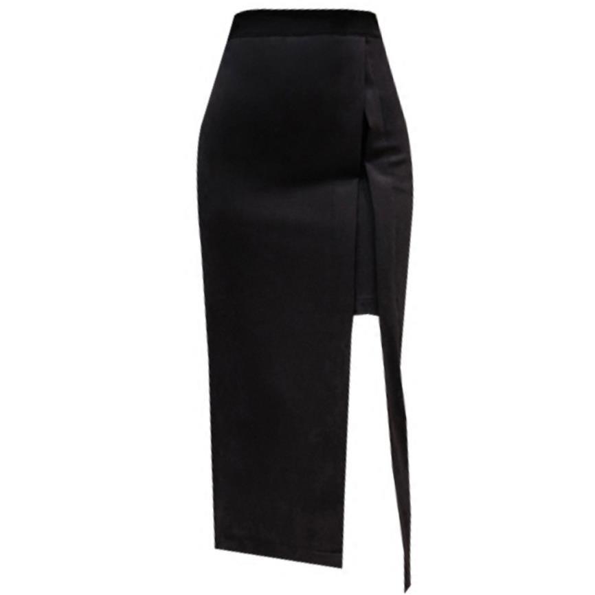 Plus Size 5XL! Split Skirt Women Spring Autumn New High Waist Package Hip Skirt OL Professional Step Skirt