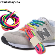1Pair Round Rainbow Color Shoelaces Canvas Athletic Shoelace Sport Sneaker Shoe Laces Strings 100CM/120CM