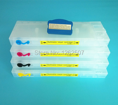 ФОТО 300ML*4Colors Inkjet Cartridge for Epson Stylus Pro 4450 Printer with chip resetter