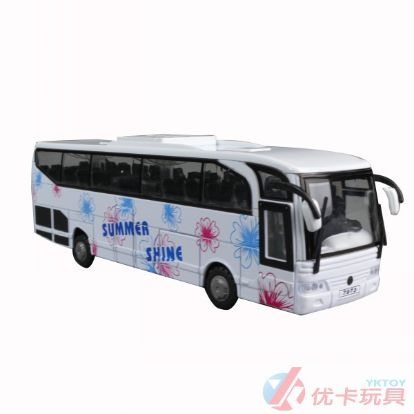 Large bus toy car model WARRIOR alloy bus