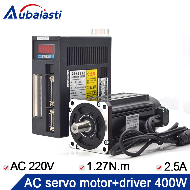 400W ac servo motor 60ST-M01330+ac servo motor 220v 2.5A 400w 57 brushless servomotors dc servo drives ac servo drives engraving machines servo