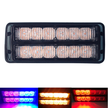 цена на High Power 12 LED Strobe Warning Light Police Lights Car Truck Emergency Side Flash Lamp 12V 24V Car styling