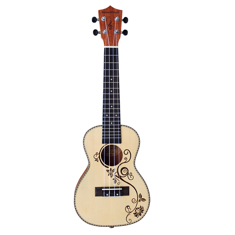 23 inch Concert Ukulele Acoustic Guitars Handcraft of Spruce Mahogany stringed music instrument Ukelele uke hawaii guitarra/Bag concert acoustic electric ukulele 23 inch high quality guitar 4 strings ukelele guitarra handcraft wood zebra plug in uke tuner