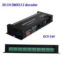 купить DC 12V 24V 30 Channel 60A RGB DMX512 decoder 30CH*2A dmx led strip dimmer PWM driver DMX512/1990 decoder light controller онлайн