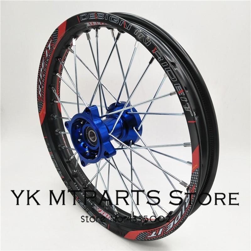 1.40x 14 inch Front Rims CNC hub Aluminum Alloy Wheel Rims 1.60 x 14inch for KLX CRF KTM Kayo Apollo BSE Pit Bike Dit Bike