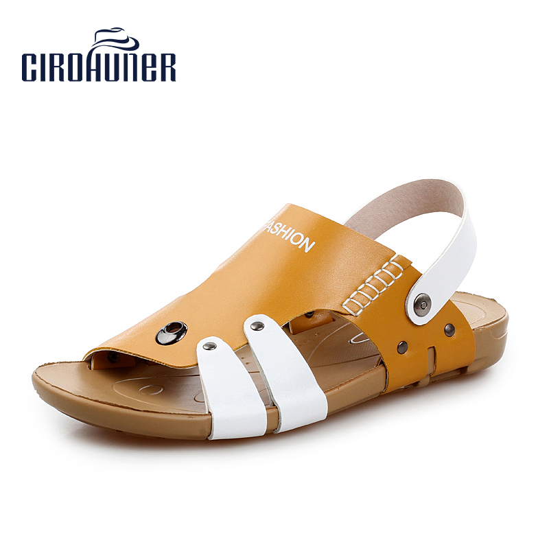 CIROHUNER Mens Shoes Summer Beach Sandals For Men Outdoor Slippers Flip Flops Sandalias Hombre Masculina Causual Sneakers Sandal
