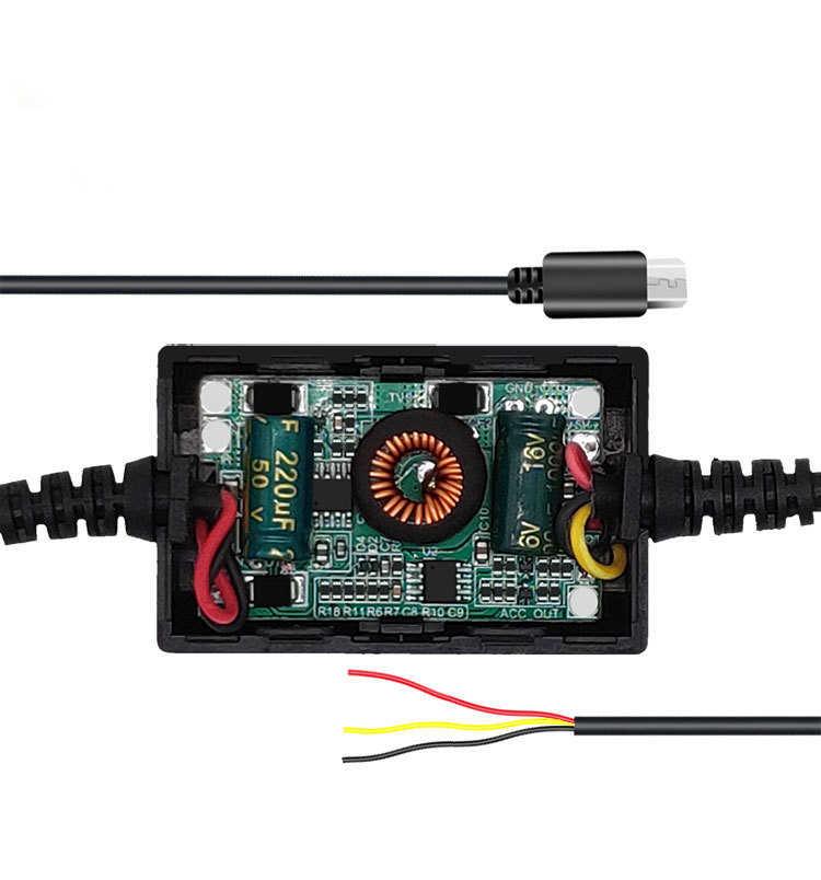 Bluavido 5 v 3A usb 2.0 obd 降圧ライン 24 時間駐車監視連続電源用車 dvr カメラ 3.2 メートルのケーブル長