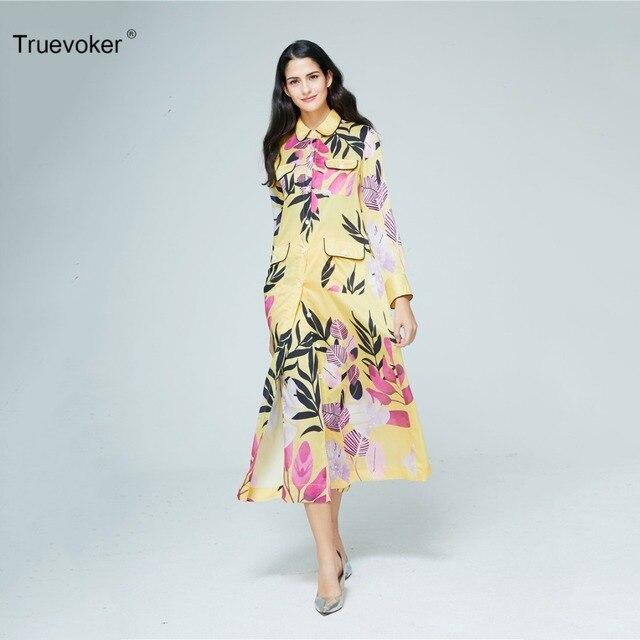 Truevoker Designer Set Women s High Quality Full Sleeve Yellow Floral  Printed Long Dress + Long Trouser Suit Casual Pajamas dff21e6e3062
